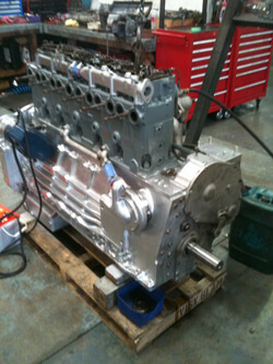 Gardner 6LXDT diesel engine under rebuild