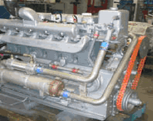 Gardner 6LXB marine diesel engine supplied by Shaw diesels to a riverboat in Whanganui
