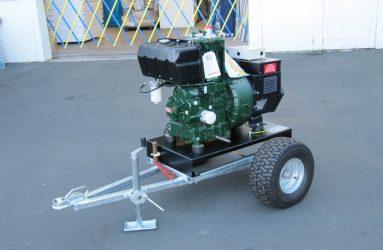 Industrial diesel generator on wheels