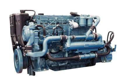 Modern diesel engine used on marine industry